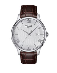 Tissot Tradition Stainless Steel Leather Strap Watch Brown