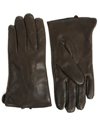 New Man Lambskin Gloves Lined With Brown Fleece