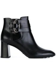 Tod's Buckled Ankle Boots Black