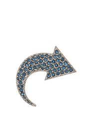 Sonia Rykiel Crystal Embellished Arrow Brooch Black Blue