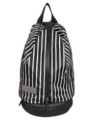 Adidas By Stella Mccartney Studio Striped Twill Backpack