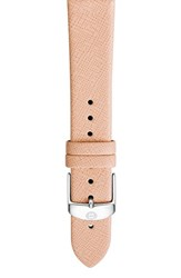 Women's Michele 18Mm Leather Watch Band Peach