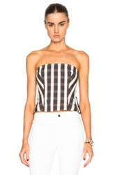 Brock Collection Bree Corset Top In Brown Checkered And Plaid