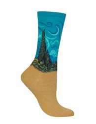 Hot Sox Wheat Field With Cypress Socks Teal