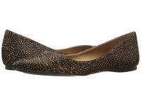 French Sole Peppy Black Polo Haircalf Women's Flat Shoes Brown