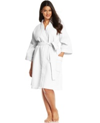 Charter Club Plus Size Waffle Knit Robe Bright White