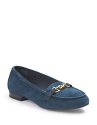 Me Too Suede Yacht Loafers Navy Blue
