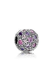 Pandora Design Pandora Clip Sterling Silver And Cubic Zirconia Cosmic Stars Moments Collection Silver Violet Pink