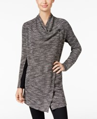 Styleandco. Style Co. Mixed Media Cascade Lapel Jacket Only At Macy's Deep Black