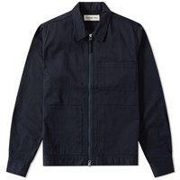 Universal Works Uniform Zip Overshirt Blue
