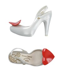 Vivienne Westwood Anglomania Melissa Footwear Courts Women White
