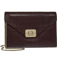 Mulberry Delphie Clutch Oxblood