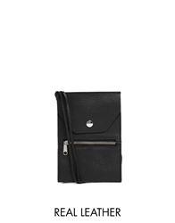 Monki Miko Leather Cross Body Bag Black