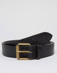 Barbour Leather Belt In Black Black