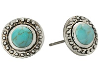Sam Edelman Textured Collar Stud Earrings Turquoise Silver Earring Blue