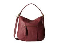 Lucky Brand Harper Crossbody Hobo Merlot Hobo Handbags Red