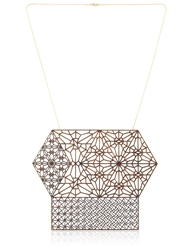 Lotocoho Alhambra Combo Pendant Necklace I Gold Wood
