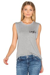 Tyler Jacobs Sigh Cut Off Tank Gray
