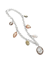 Mia And Beverly Cameo Charm Necklace Multicolor