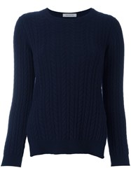 Anddaughter Cable Knit Jumper Blue