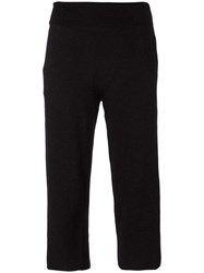 James Perse Cropped Trousers Black