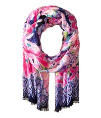 Lilly Pulitzer Resort Scarf Navy Tipping Point Navy Scarves Multi