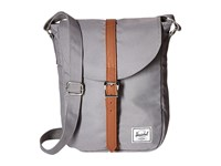 Herschel Kingsgate Grey Tan Synthetic Leather Backpack Bags Gray