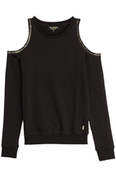 Juicy Couture Open Shoulder Beaded Pullover