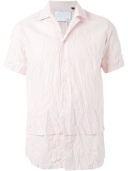Matthew Miller Amarillo Unstructured Collar Short Sleeve Shirt Pink And Purple