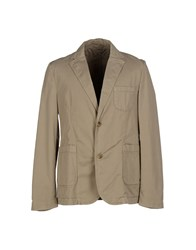 Closed Suits And Jackets Blazers Men Sand