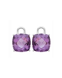Eternal 18K White Gold Amethyst Earring Drops Kiki Mcdonough