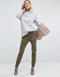 Dl1961 Jessica Alba X Dl Tapered Trouser With Flap Pocket Detail Clover Green