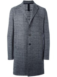 Harris Wharf London Boxy Tweed Coat Grey