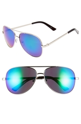 Icon Eyewear 'Oliver' 57Mm Aviator Sunglasses Silver