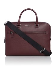 Michael Kors Harrison Zip Top Saffiano Leather Briefcase Ox Blood