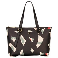 Nica Nova Zip Top Shoulder Bag Geo Print