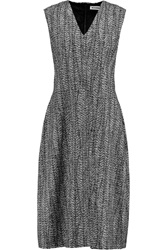 Jil Sander Wool Blend Boucle Dress Gray
