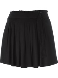 Ann Demeulemeester Pleated Skorts Black