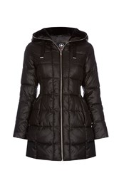 Halifax Traders Quilted Hooded Jacket Black