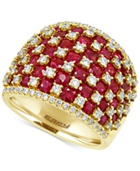 Effy Collection Effy Ruby 4 1 2 Ct. T.W. And Diamond 1 1 4 Ct. T.W. Ring In 14K Gold Yellow Gold