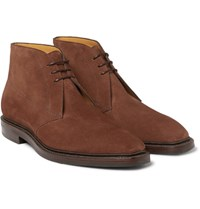 Gaziano And Girling Arran Suede Chukka Boots Tan