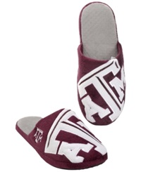 Forever Collectibles Men's Texas A And M Aggies Big Logo Slippers Maroon White
