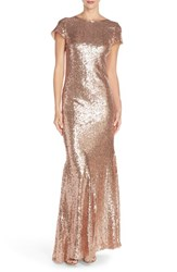 Women's Candela 'Toulouse' Sequin Cowl Back Gown
