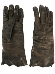Isaac Sellam Experience Distressed Effect Gloves Green