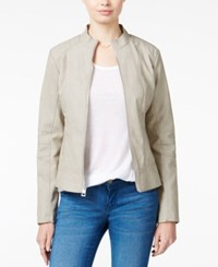 Guess Mia Faux Leather Jacket Grey Multi