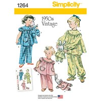 Simplicity Vintage Children's Pyjama's And Soft Toy Sewing Pattern 1264
