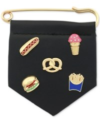 Bcbgeneration Gold Tone Party Food Pin Set