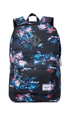 Herschel Heritage Mid Volume Backpack Floral Blur Black