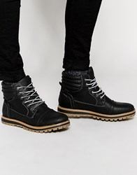 New Look Boot In Faux Leather Black