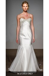 Anna Maier Couture Women's Helene Strapless Silk Duchess Satin Gown